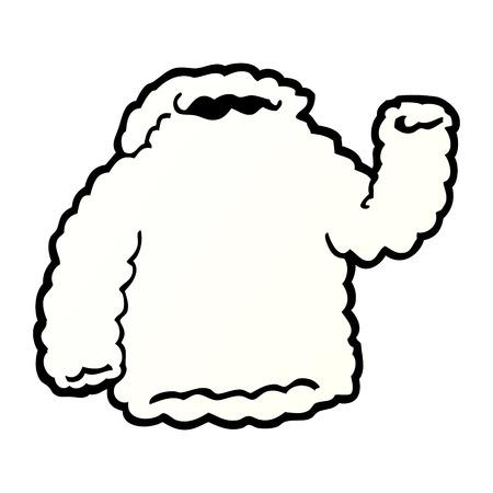 cartoon fleece hoody Imagens - 95546037