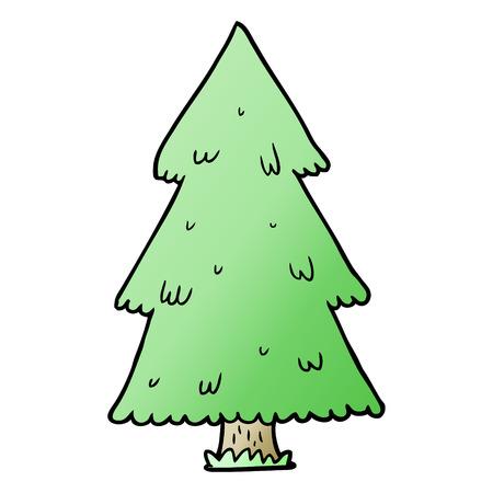 Cartoon kerstboom Stockfoto - 95544507