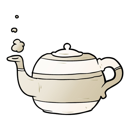 cartoon tea pot