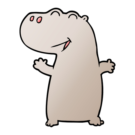 cartoon hippopotamus illustration design.
