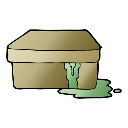 cartoon box with slime