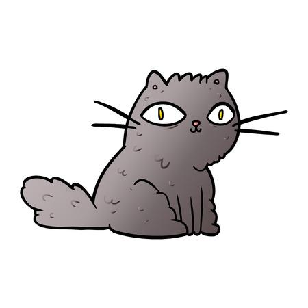 cartoon cat looking right at you Çizim