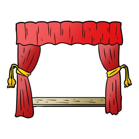 ステージに開く漫画のカーテン 写真素材 - 95544542