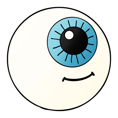 Eyeball graphic design in cartoon illustration.