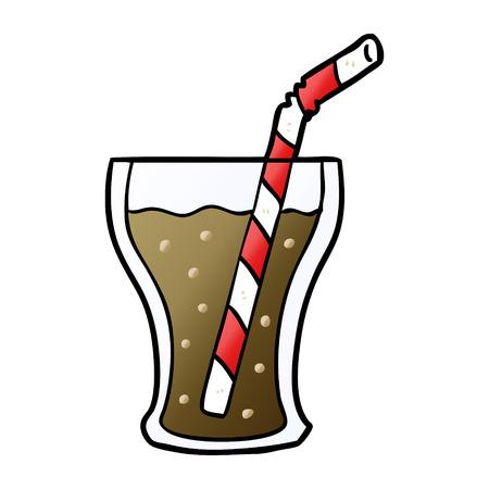 cartoon glass of cola 일러스트