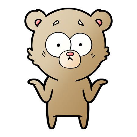 漫画クマは肩を縮める