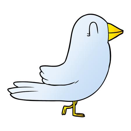 Bird graphic design in cartoon illustration. Иллюстрация