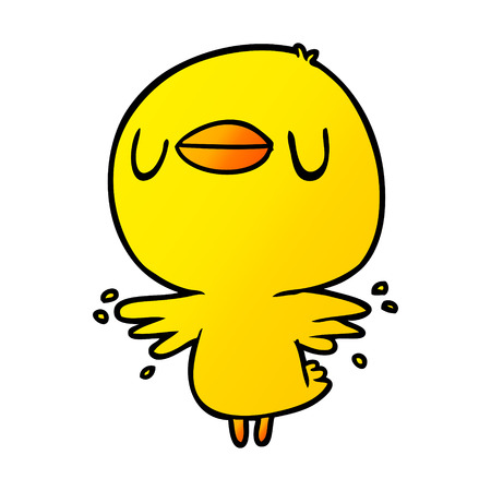 cute cartoon chick flapping wings Stock Illustratie