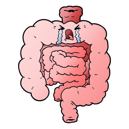 cartoon intestines crying
