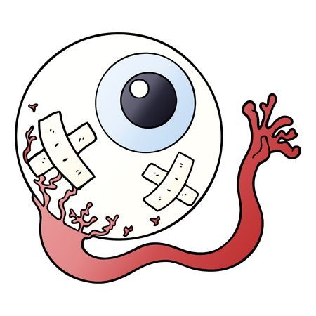 cartoon injured eyeball