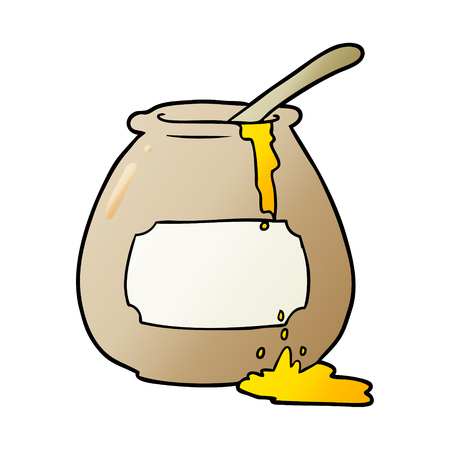 cartoon honey pot