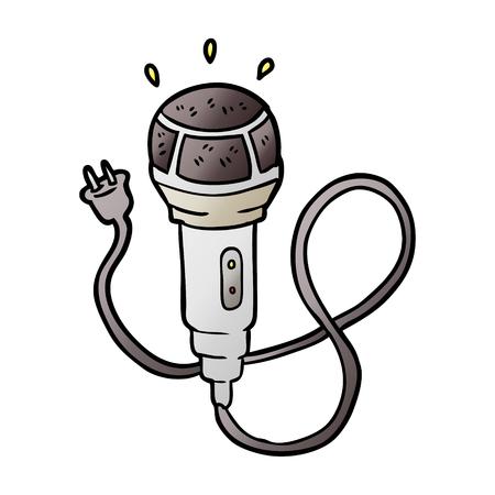 Microphone graphic design in cartoon illustration. Illustration