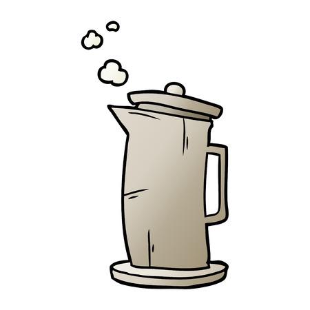 Cartoon alten Stil Wasserkocher Standard-Bild - 95546313