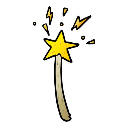 cartoon magic star wand Stock Illustratie