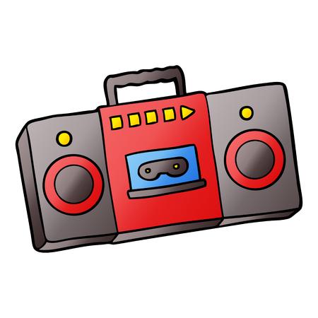 cartoon retro cassette tape player Фото со стока - 95544581