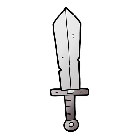 cartoon old sword Ilustrace