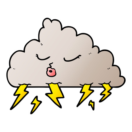cartoon thundercloud illustration design. Stok Fotoğraf - 95544584