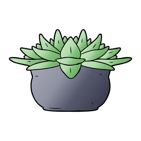 cartoon succulent plant 向量圖像