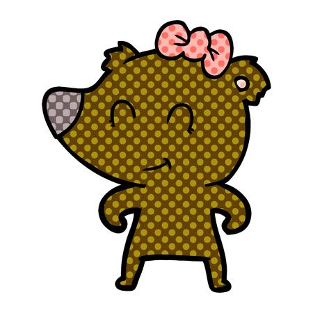 female bear cartoon Archivio Fotografico - 95546479