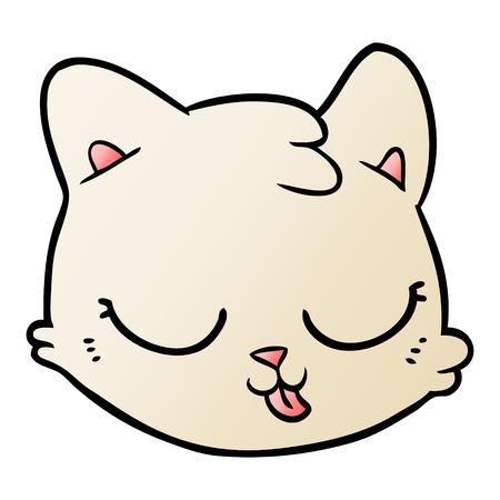 Cartoon cat face vector illustration