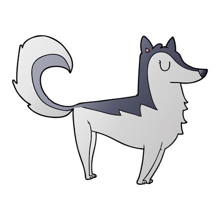 Cartoon husky vector illustration