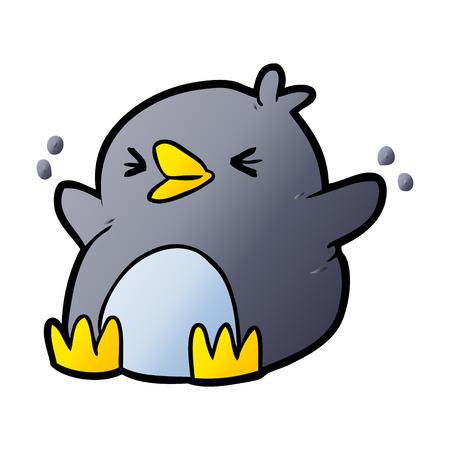 Cartoon penguin vector illustration Illustration