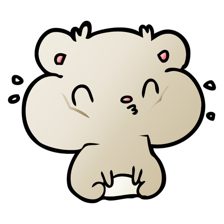 Hamster de dessin animé avec des poches de joue pleines illustration vectorielle