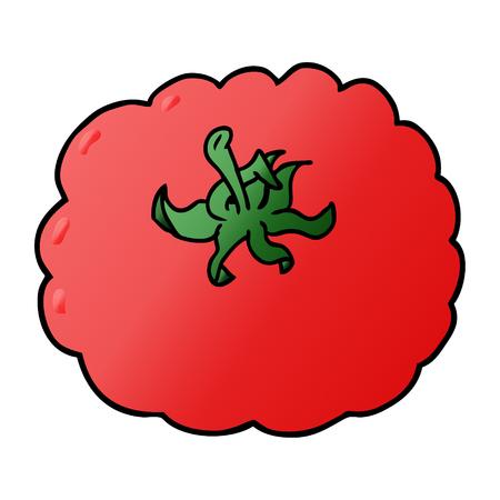 Cartoon tomato vector illustration