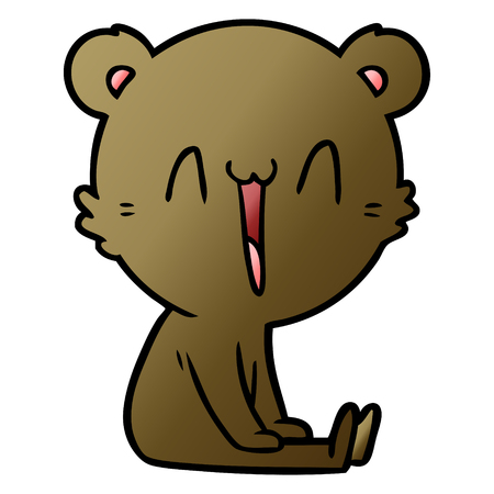 Happy bear cartoon vector illustration