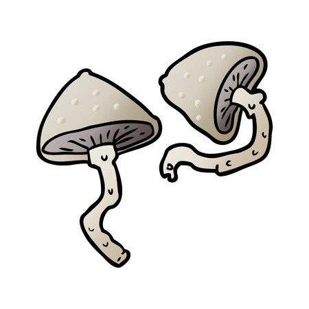 cartoon wild mushrooms