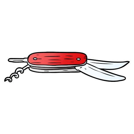 カロトンポケット折りたたみナイフ  イラスト・ベクター素材