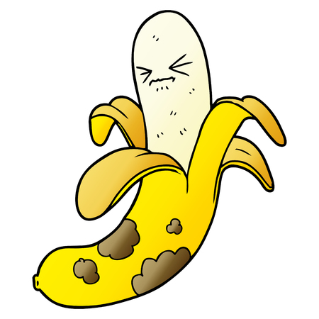 cartoon rotten banana