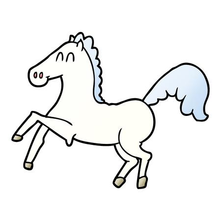 cartoon horse rearing up  イラスト・ベクター素材
