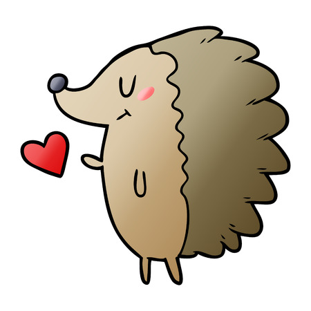 cute cartoon hedgehog