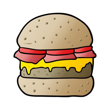 cartoon stacked burger