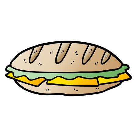 Sandwich de queso de dibujos animados Foto de archivo - 95544791