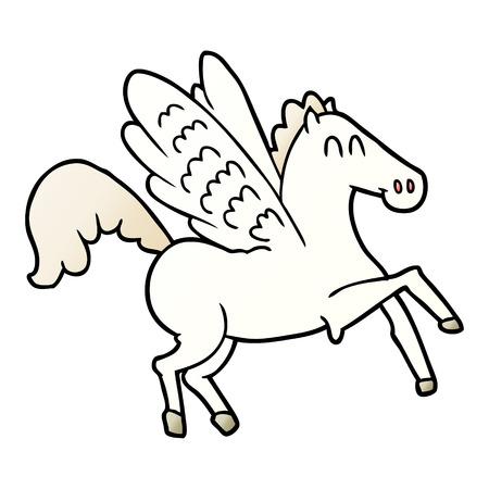 Cartoon geflügelte Pferd Standard-Bild - 95546539