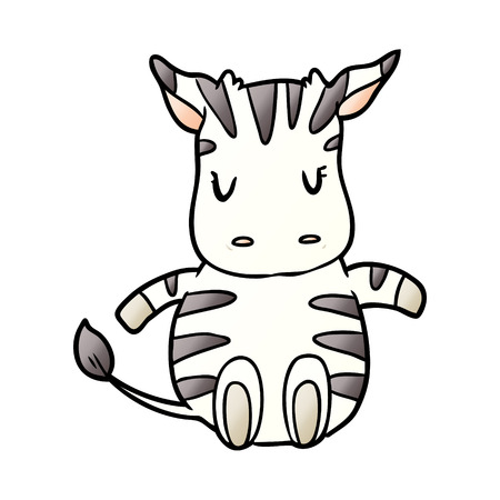 cute cartoon zebra Stockfoto - 95546554