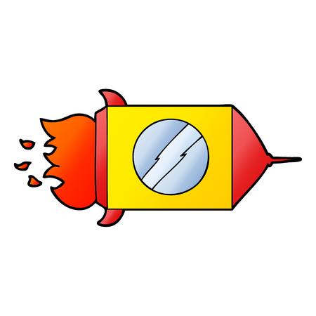 Cartoon Weltraumrakete Standard-Bild - 95546574