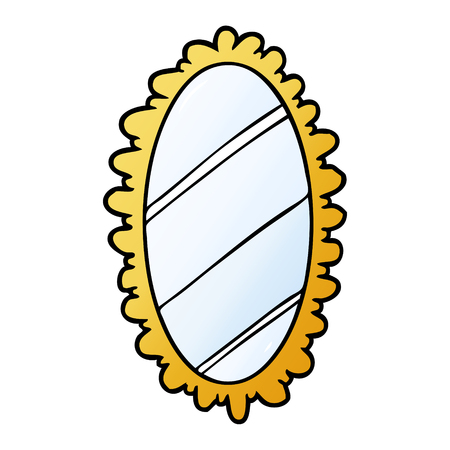 Dessin animé encadré vieux miroir Banque d'images - 95546581