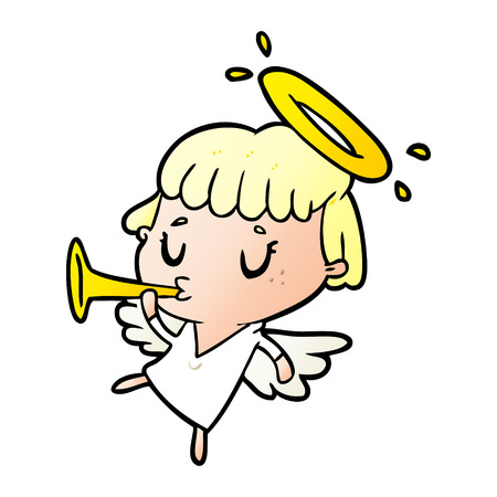 cute cartoon angel 版權商用圖片 - 95546583