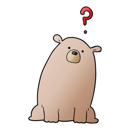 cartoon curious bear Ilustração