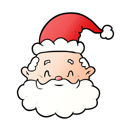 Santa claus face in cartoon illustration, in white background. Banque d'images - 95585671