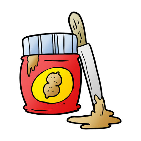 cartoon jar of peanut butter