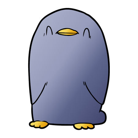Penguin in cartoon illustration, in white background.