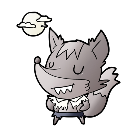 cartoon halloween werewolf Stock Illustratie