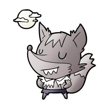 cartoon halloween werewolf Illustration
