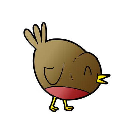 cartoon robin bird Stock Illustratie