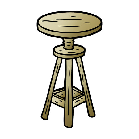cartoon adjustable artist stool Фото со стока - 95547023