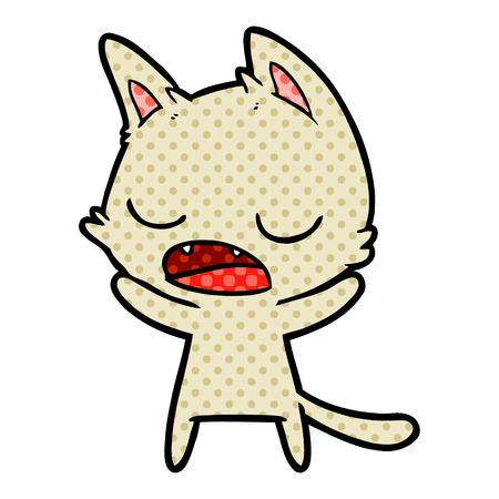 talking cat cartoon Stock Illustratie